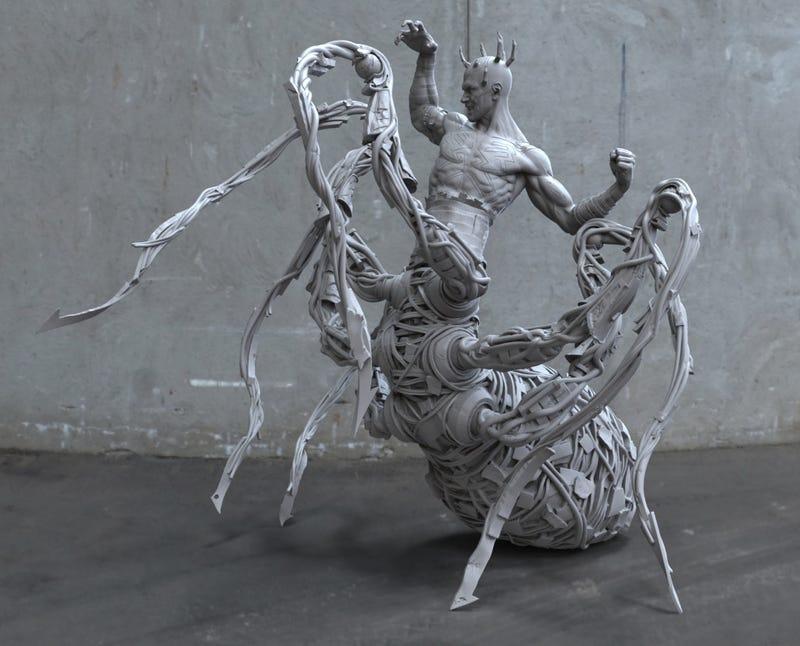 Illustration for article titled U.S. Mint Artist Uses Digital Sculpting to Model Batman and Darth Maul