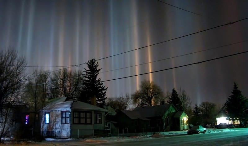 Pilares de luz sobre Wyoming. Foto: Christoph Geisler / Wikipedia