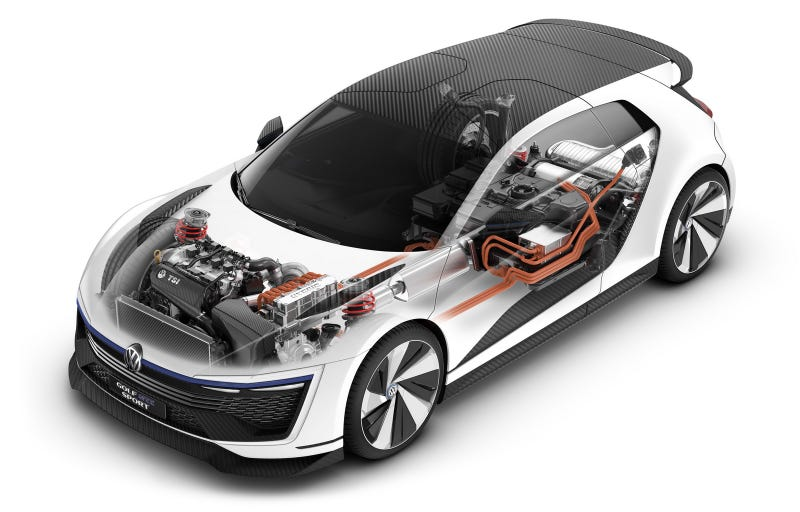 the volkswagen golf gte concept is a hybrid gti from the future. Black Bedroom Furniture Sets. Home Design Ideas