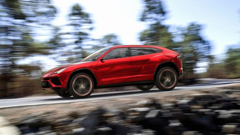 Illustration for article titled Here Are The First Photos Of The Lamborghini SUV