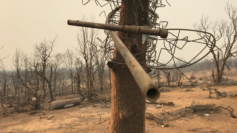 The aftermath of the Carr Fire tornado.