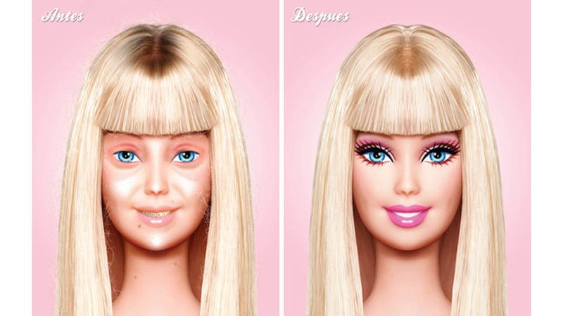 Illustration for article titled Barbie Without Makeup -- Fresh-Faced Beauty or Straight-Up Busted?