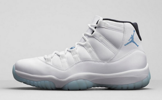 """These new Air Jordan 11 Retro """"Legend Blue"""" sneakers will be available for purchase on Dec. 20, 2014.Nike.com screenshot"""