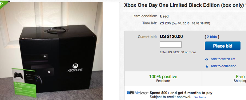 Illustration for article titled Xbox One Boxes Going For Nearly As Much As The Console Itself on eBay