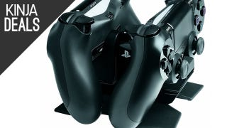 Illustration for article titled Charge Your PS4 Controllers in Style With This Cheap Cradle