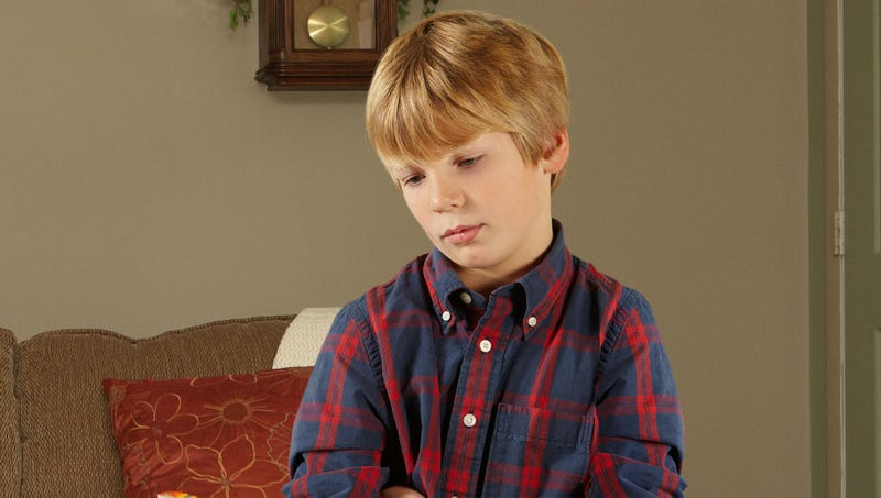 Illustration for article titled Absolutely Pathetic: Just 10 Minutes Into This Sleepover, This Boy Is Already Laying The Groundwork For Calling His Mom To Come Take Him Home Early