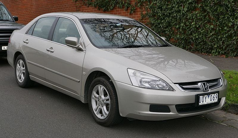 Not her car.  Just Wikipedia Accord.  Pretty much the same thing.