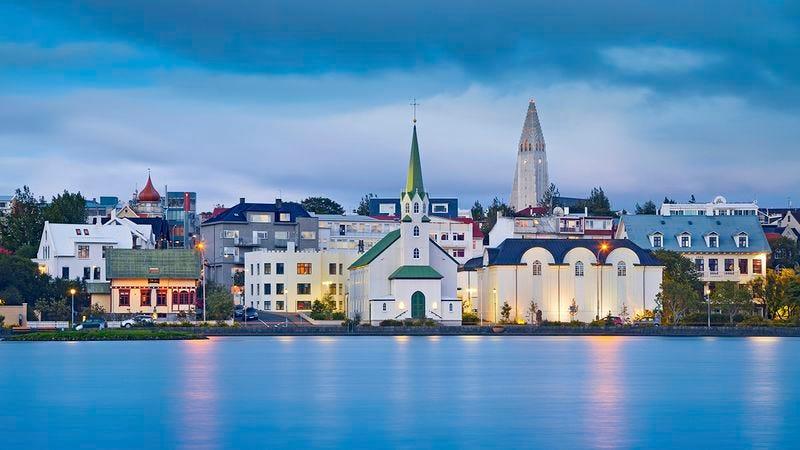 The city of Reykjavik.