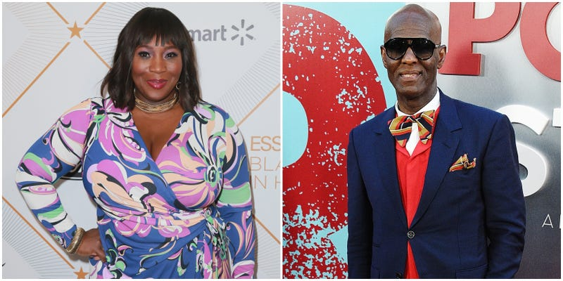 (l-r) Bevy Smith attends the 2018 Essence Black Women In Hollywood Oscars Luncheon on March 1, 2018 in Beverly Hills, California; Dapper Dan attends the 'POWER' Season 5 Premiere on June 28, 2018 in New York City.