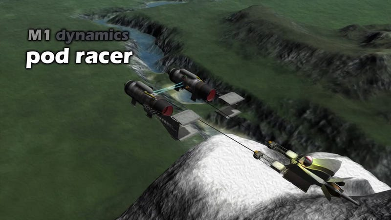 Illustration for article titled Star Wars Podracer from Kerbal Space Program Can Actually Fly