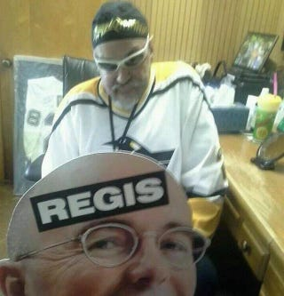 Illustration for article titled Penguins Fan Says He Was Booted For Pierre McGuire Sign