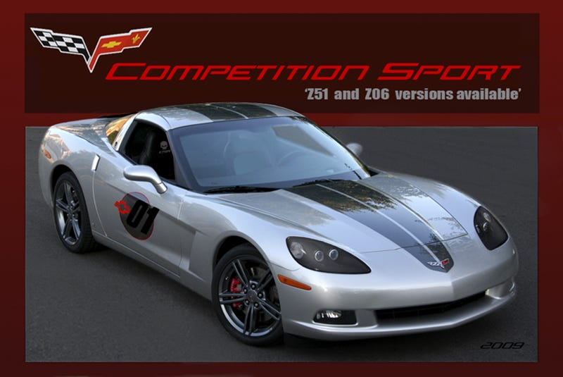 Illustration for article titled 2009 Competition Sport Corvette Priced At $55,655 For 1LT, $77,500 For Z06