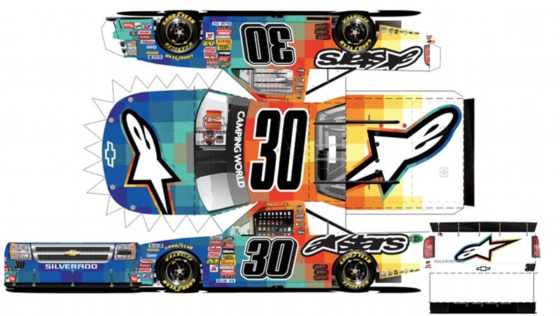 Illustration for article titled Build Your Own Heat-Signature NASCAR Truck