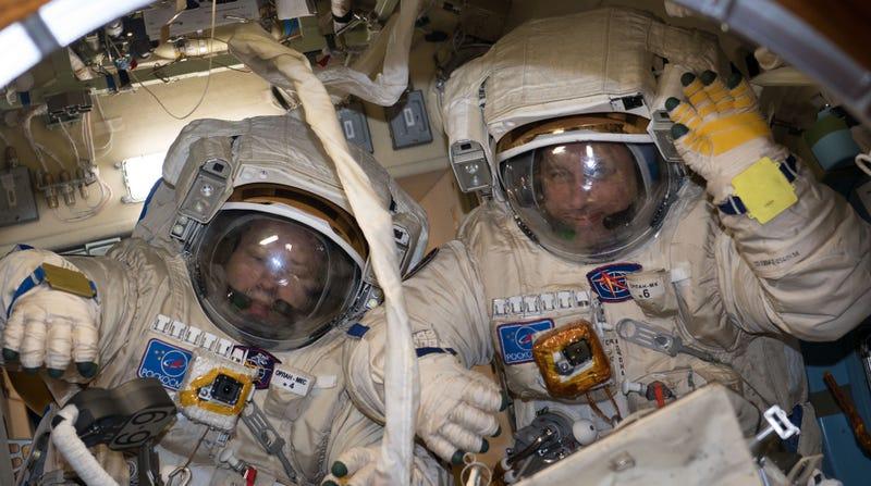 Los dos cosmonautas rusos. Flickr/NASA