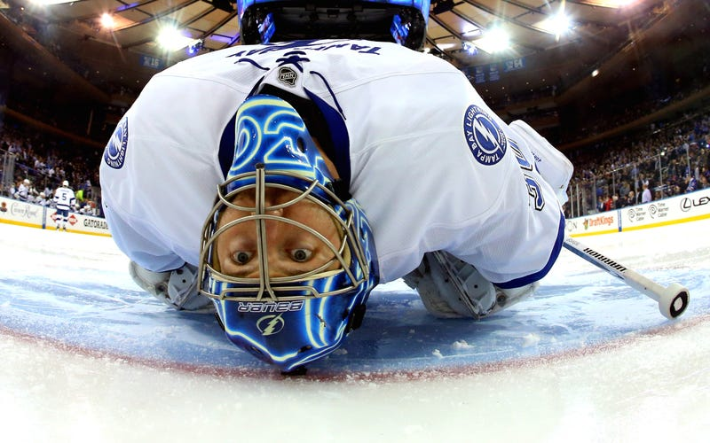 Illustration for article titled The Ben Bishop Save That Brought Some Sanity To The Lightning's Win