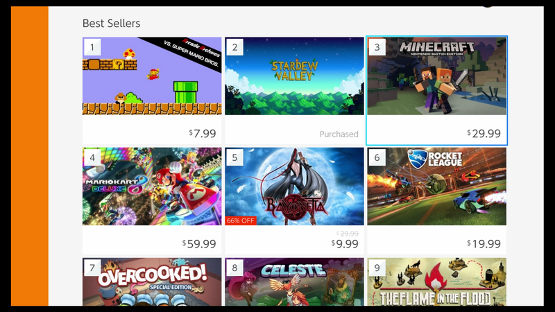 Im Obsessed With The Switch EShops BestSeller List - Minecraft spiele switch