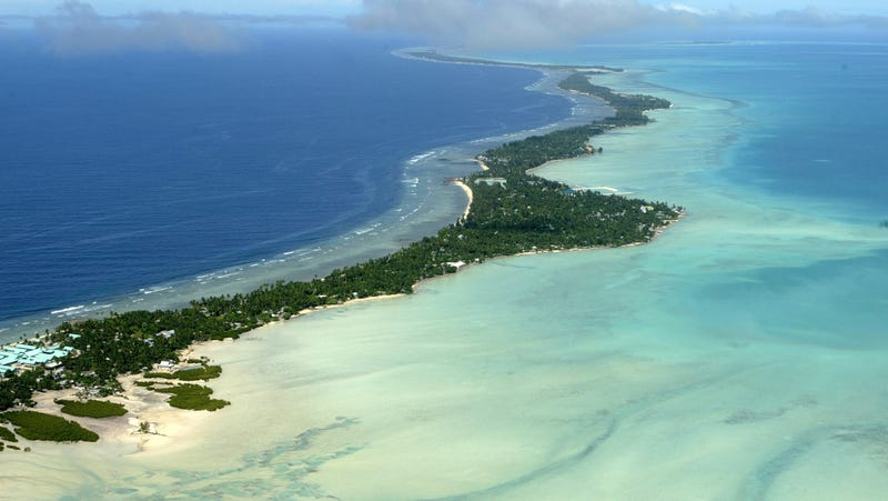 The Tarawa atoll of the Republic of Kiribati