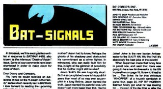 Illustration for article titled DC brings back letters to the editor