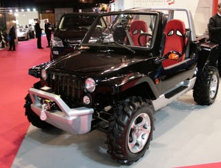 Illustration for article titled China Automobile France Displays Kiff; Looks Like Jeep Hurricane, Not Futurama Character