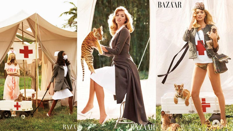 Illustration for article titled Kate Upton's Latest Fashion Spread Is Full Of Endangered Baby Animals