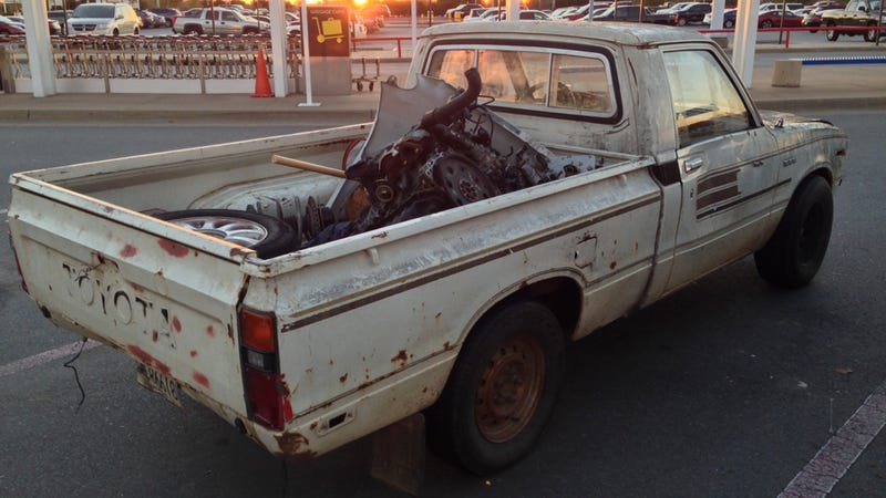 This tattered Toyota just might be the ultimate monument to what a pickup  truck Your Heavy Duty Pickup Will Never Be As Badass Tiny