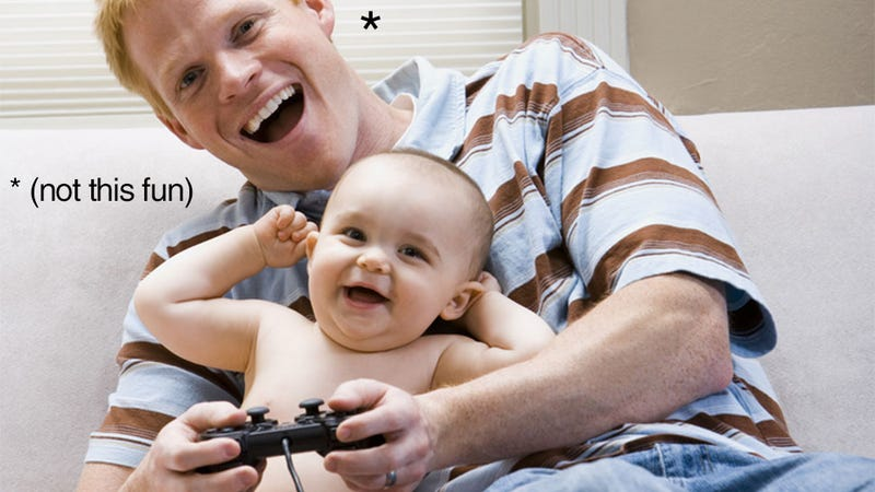 Illustration for article titled A Guide To Surviving The Arrival Of New Children (With Video Games)