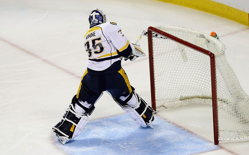 Illustration for article titled Pekka Rinne Smashed The Shit Out Of His Stick, And Yeah I Get It
