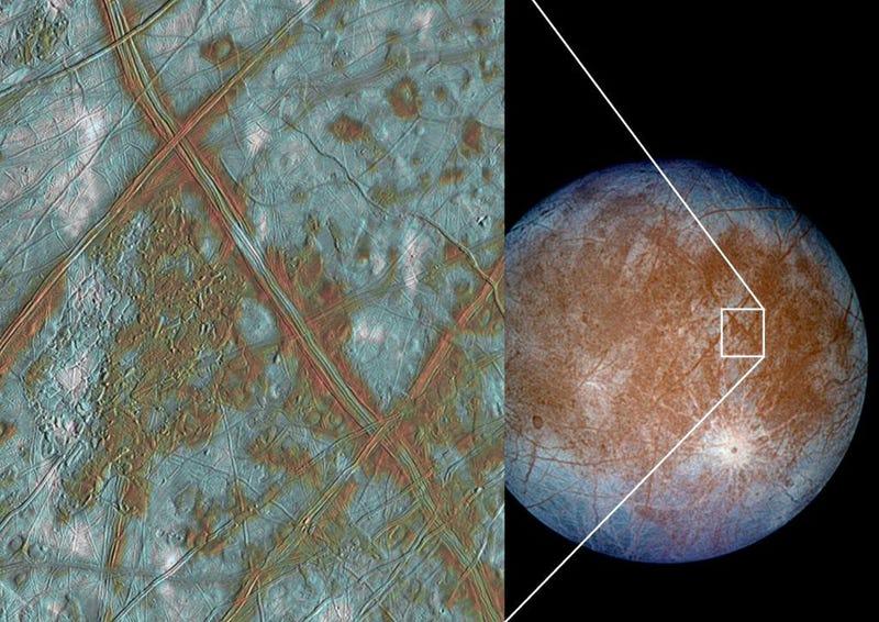 Illustration for article titled Planean una misión suicida para hallar vida en un satélite de Júpiter