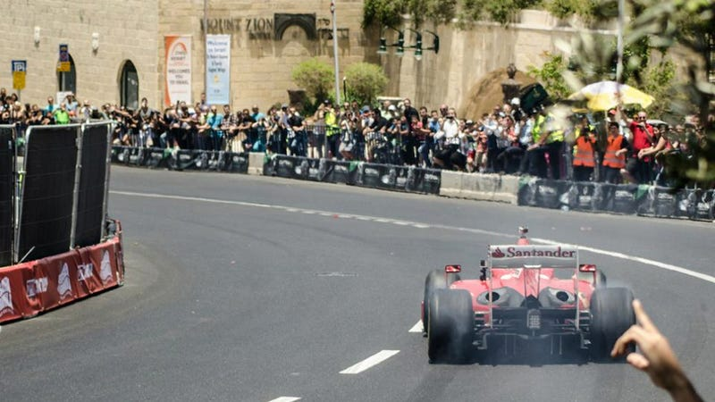 Illustration for article titled Motorsports Comes To Jerusalem With The 'Peace Road Show'