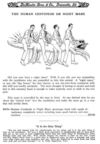 Illustration for article titled The electrified hazing devices and jolly old death traps of 1930s men's clubs