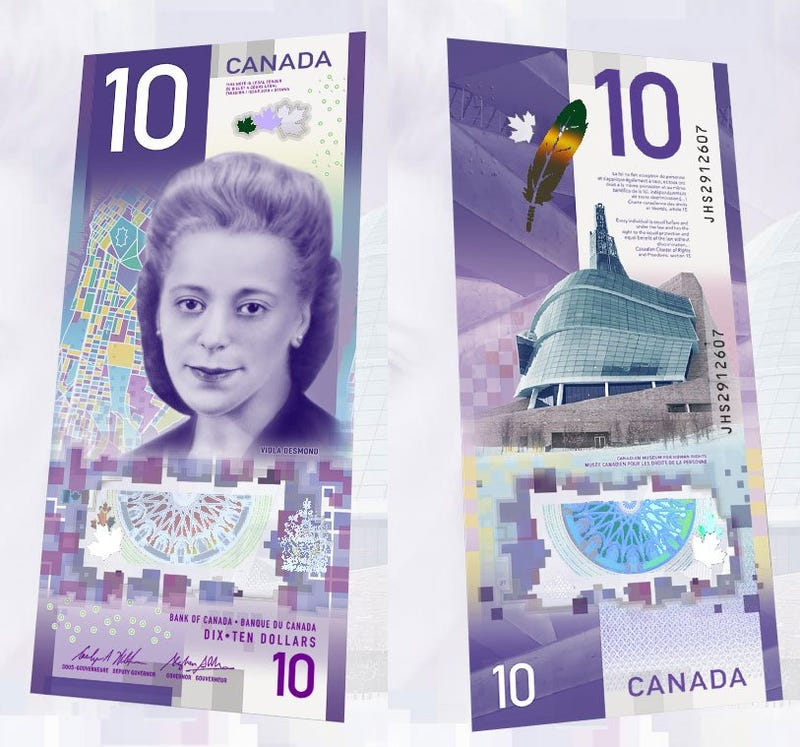 Yet again, Canada showed us how it's done. While we're too constipated to put a woman on the money, Canada put a black woman on a vertical, polymer bill.