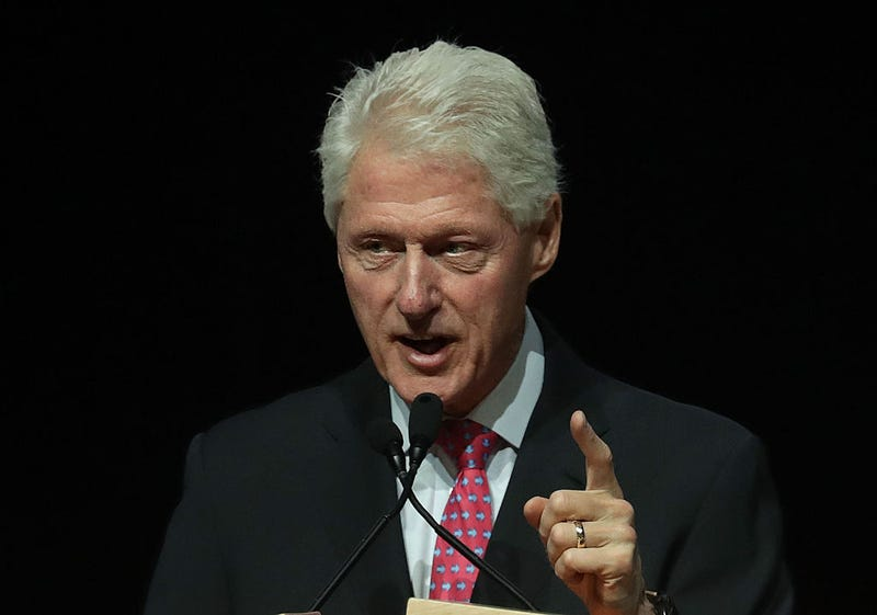 Former U.S. President Bill Clinton speaks on behalf of his wife, Democratic presidential nominee Hillary Clinton, during a 2016 Presidential Election Forum, hosted by Asian and Pacific Islander American Vote and Asian American Journalists Association on Aug. 12, 2016, in Las Vegas. Alex Wong/Getty Images