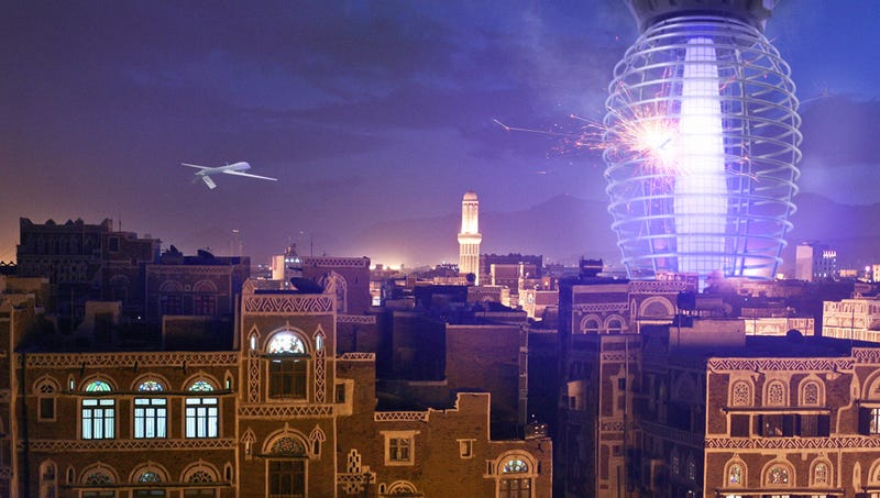 Illustration for article titled Yemen Unveils New 80-Story Drone Zapper