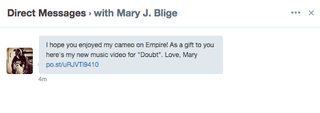 Illustration for article titled Hello, Mary J. Blige DM'd Me on Twitter