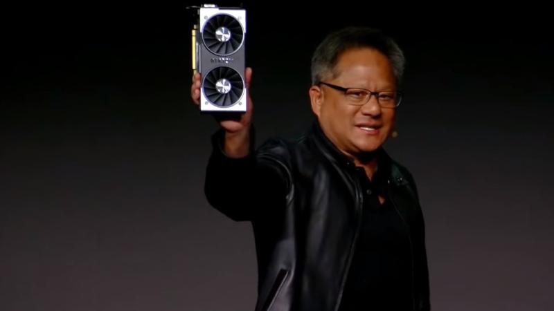 Jensen Huang en la convención de Nvidia durante el CES 2019. Foto: Nvidia