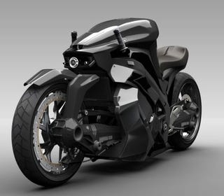 Illustration for article titled High-Tech 2WD Ostoure Superbike Is Straight Out of Skynet's Garage