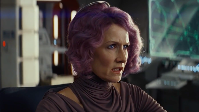 Laura Dern as Vice Admiral Holdo in Star Wars: The Last Jedi.