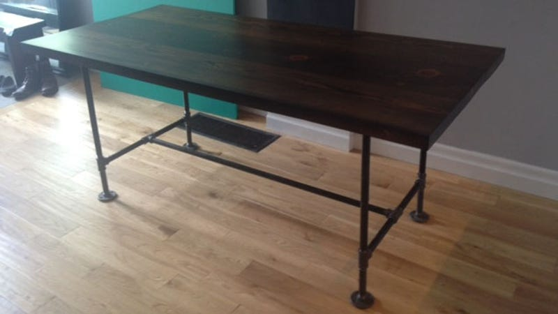 build industrial furniture with wood and pipes black steel pipe furniture
