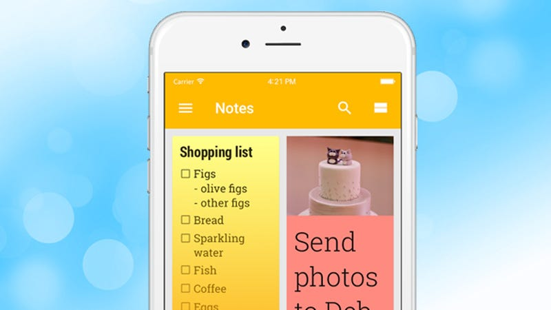 Illustration for article titled Google Keep Is Now Available on iOS