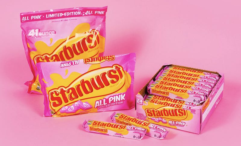 Illustration for article titled Starbursts selling bags of all-pink candy, the only flavor that matters