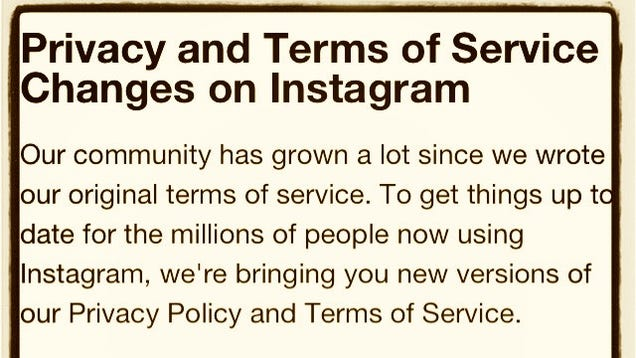 instagram s absurd new terms of use agreement is already