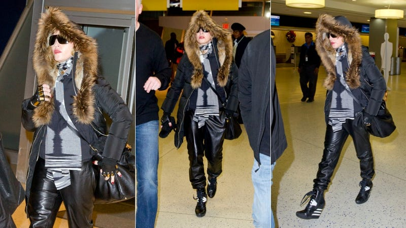 Illustration for article titled Here's What Madonna Wears When Flying Internationally for the Holidays