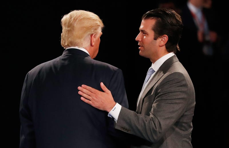 President Donald Trump with Donald Trump Jr. (Rick Wilking-Pool/Getty Images)