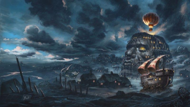 Image: Illustration for Mortal Engines prequel by David Wyatt