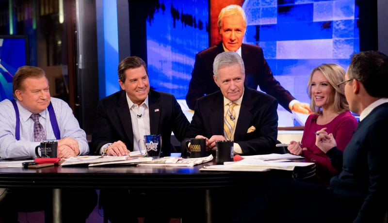 """Illustration for article titled Poor Alex Trebek Was Subjected to Fox's """"The Five"""" And Survived"""