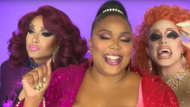 """Lizzo and RuPaul's Drag Race alumni gave """"Juice"""" a stellar drag makeover"""