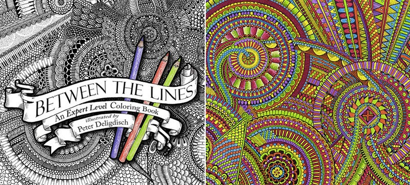 Illustration for article titled A Coloring Book For Those Who've Mastered Staying Inside the Lines