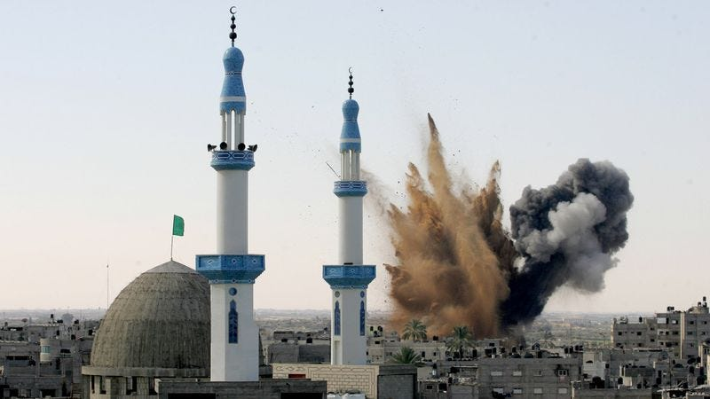Illustration for article titled Fighting Continues Over World's Holiest Bombing Sites