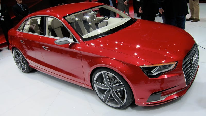 Illustration for article titled Audi A3 Concept is the sedan you'll hate to love