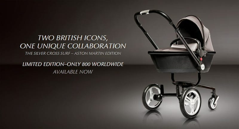 Illustration for article titled Exclusive: The $3000 Aston Martin Stroller, With Alcantara Seat!